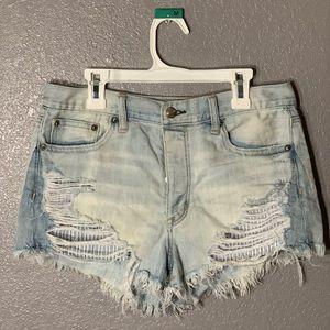 American Eagle High Waisted Jean Shorts